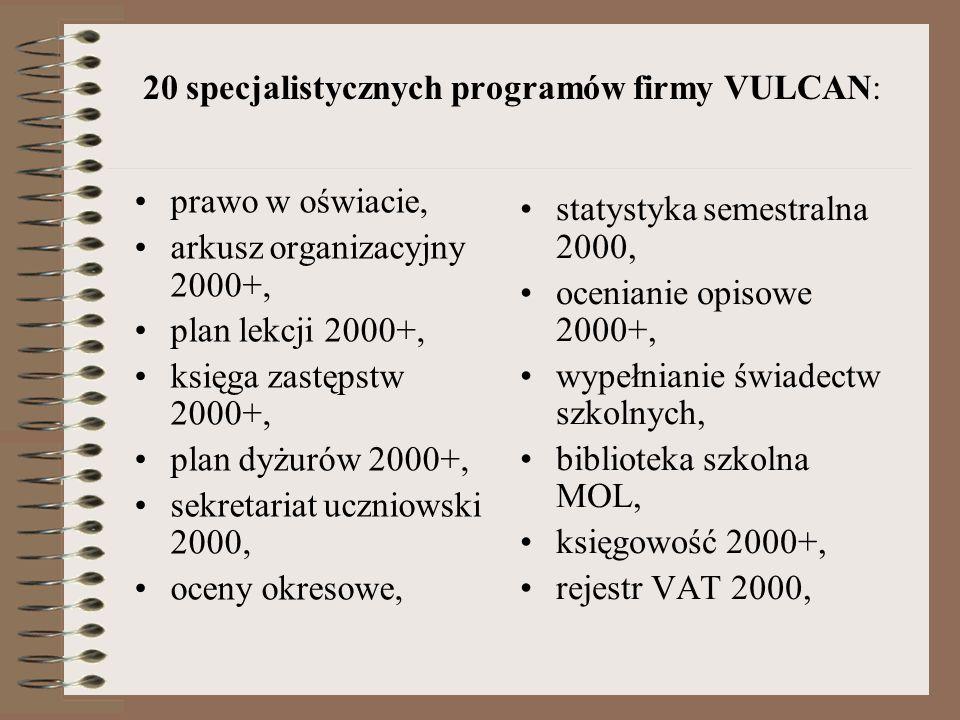 Planowanie i usprawnianie pracy administracyjnej Oprogramowanie: Pakiet biurowy Microsoft Office, Płatnik ZUS Program do elektronicznej obsługi konta