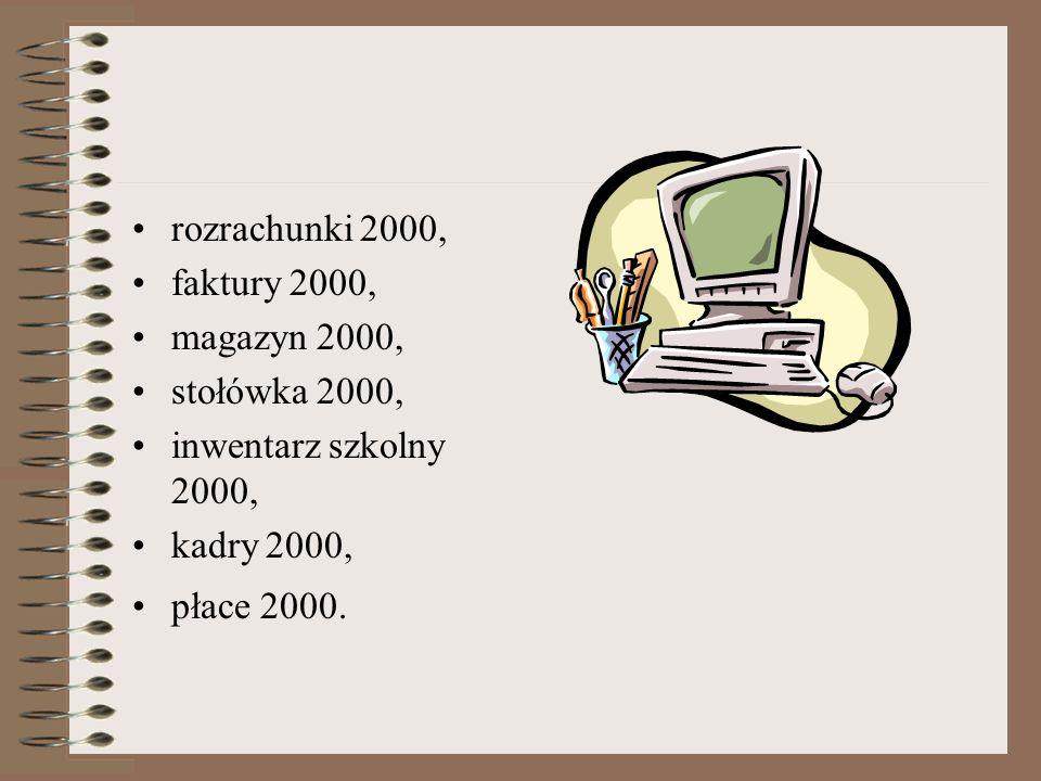 prawo w oświacie, arkusz organizacyjny 2000+, plan lekcji 2000+, księga zastępstw 2000+, plan dyżurów 2000+, sekretariat uczniowski 2000, oceny okreso