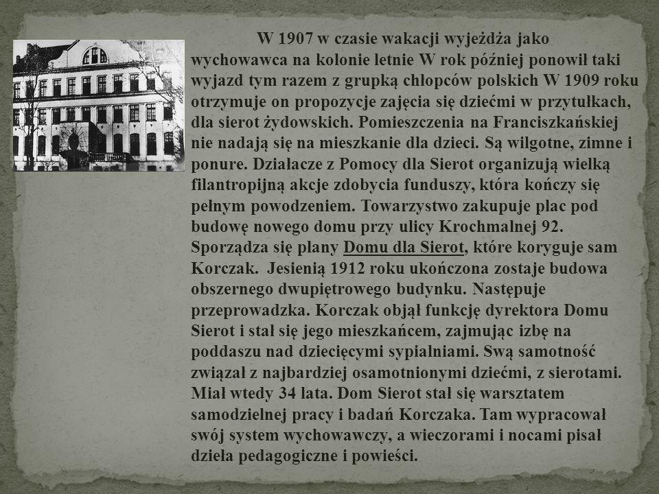 W nowo wybudowanym Domu Sierot pracuje także Stefania Wilczyńska.