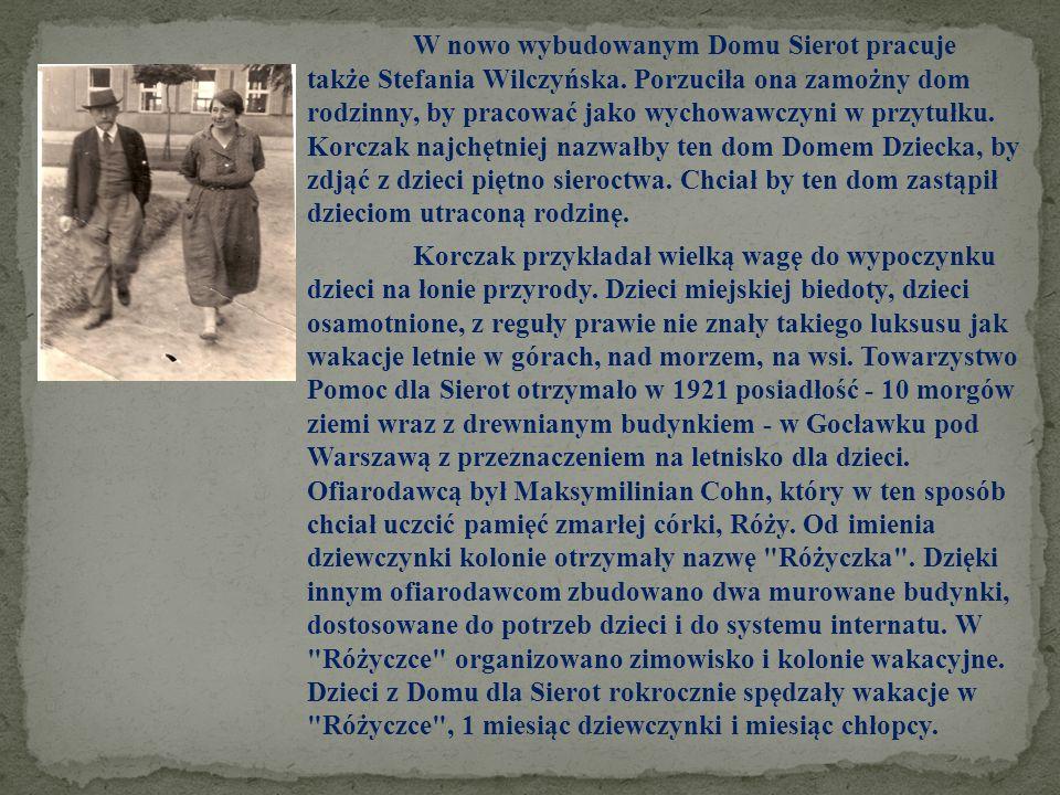 I wojna światowa oderwała Korczaka od Domu Sierot na okres 4 lat(1914 - 1918), ale nie oderwała go od dzieci.