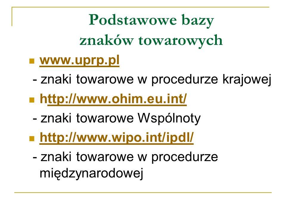 Baza: znaki Wspólnoty Pytanie: słowo max + klasa nicejska 11 Wynik wyszukiwania: 30 rekordów - lista http://www.ohim.eu.int/ttp://www.ohim.eu.int/