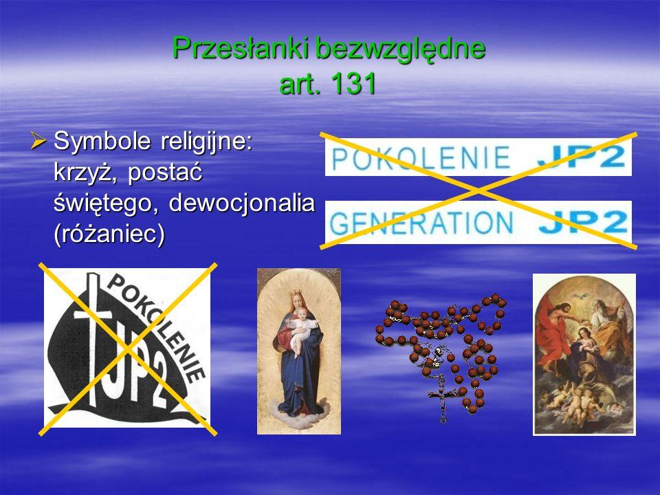 Symbole religijne: krzyż, postać świętego, dewocjonalia (różaniec) Symbole religijne: krzyż, postać świętego, dewocjonalia (różaniec)