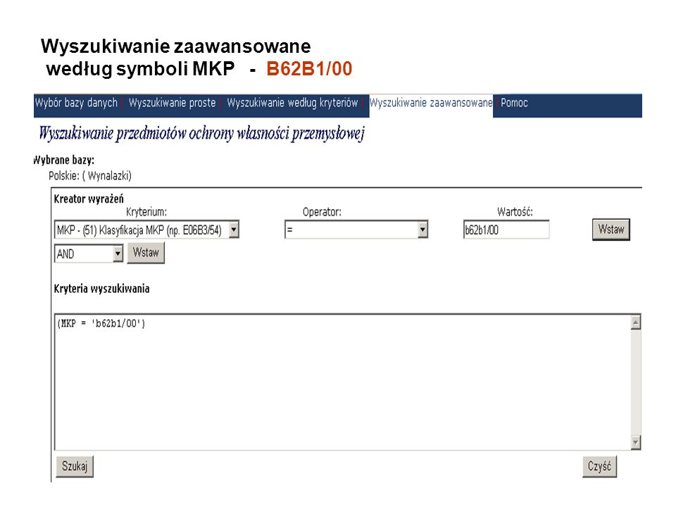 Wyszukiwanie zaawansowane według symboli MKP - B62B1/00