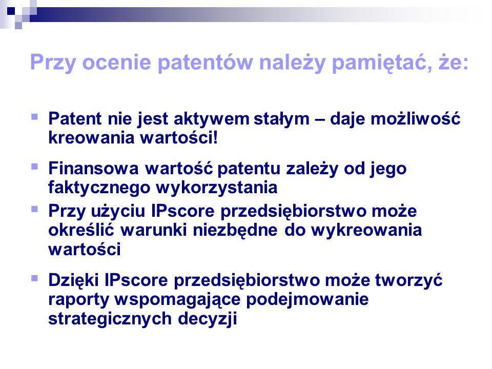 Wartość patentu jest równa przyszłym ekonomicznym korzyściom, jakie można uzyskać z opatentowanego wynalazku.