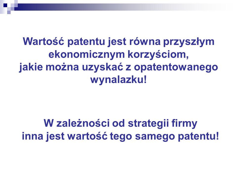 IPscore nie stosuje się do wyceny patentu w nowo powstałym przedsiębiorstwie gdy wykorzystanie patentu spowoduje wzrost ceny produktu