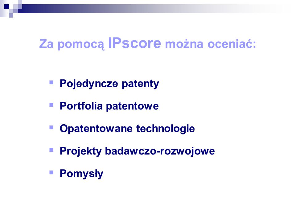Jak ocenić patent lub rozwiązanie technologiczne.
