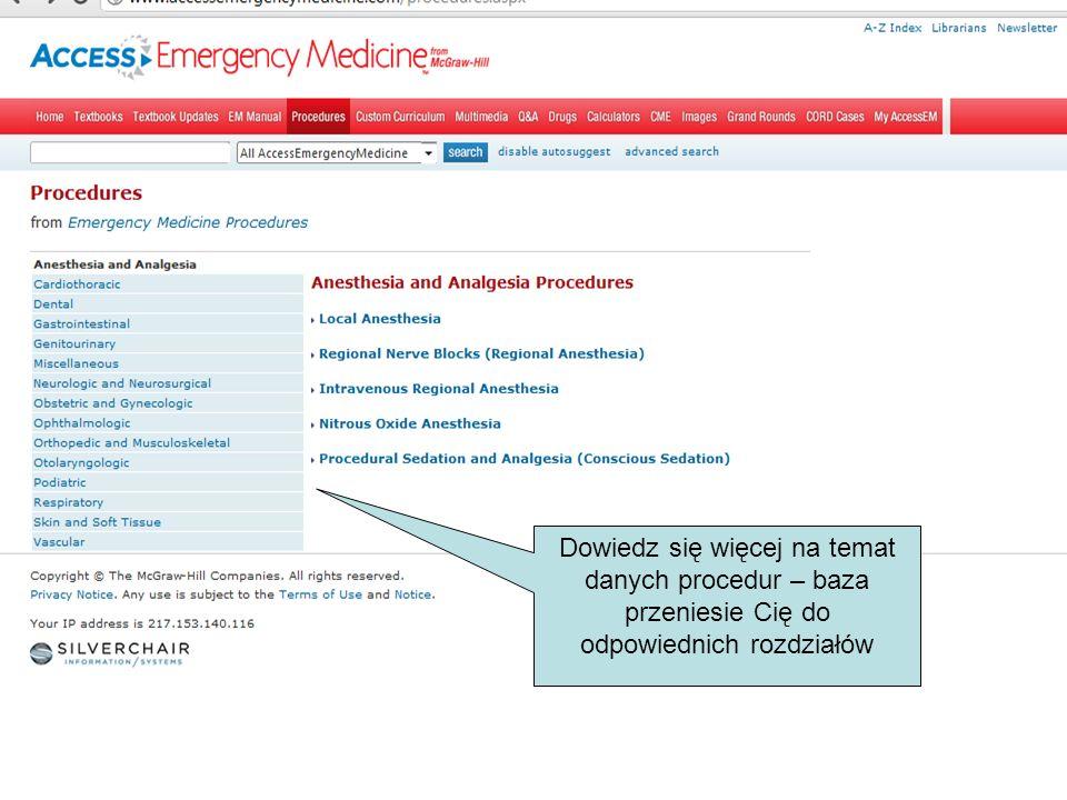 Wybierz multimedia: obejrzyj filmy na temat wybranych zabiegów, procedur i sposobów postępowania z pacjentem, sprawdź kontekst i doczytaj więcej w poleconych podręcznikach