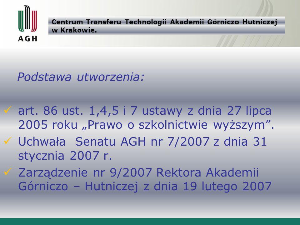 Centrum Transferu Technologii Akademii Górniczo Hutniczej w Krakowie.