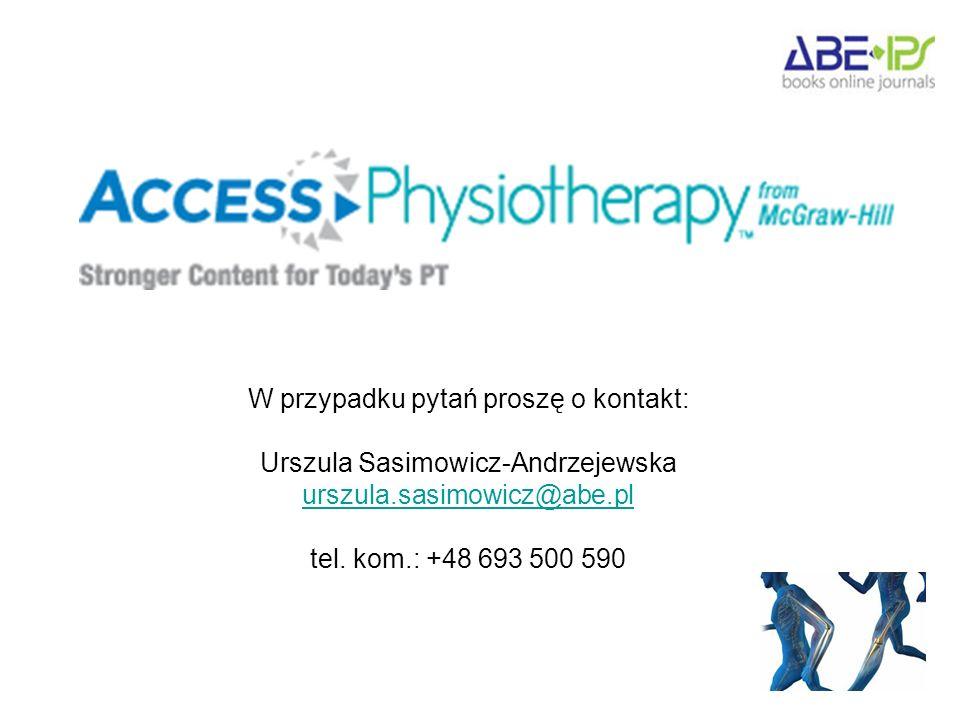 W przypadku pytań proszę o kontakt: Urszula Sasimowicz-Andrzejewska urszula.sasimowicz@abe.pl tel.