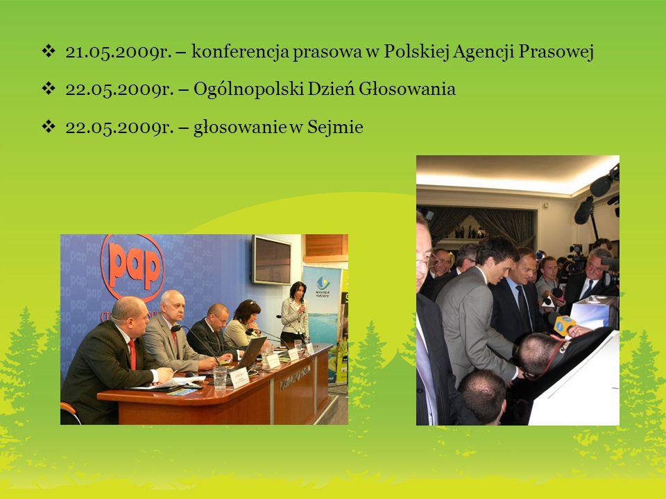 21.05.2009r. – konferencja prasowa w Polskiej Agencji Prasowej 22.05.2009r.