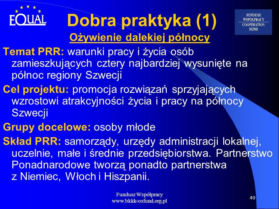 Fundusz Współpracy www.bkkk-cofund.org.pl 40 Dobra praktyka (1) Ożywienie dalekiej północy Temat PRR: warunki pracy i życia osób zamieszkujących czter