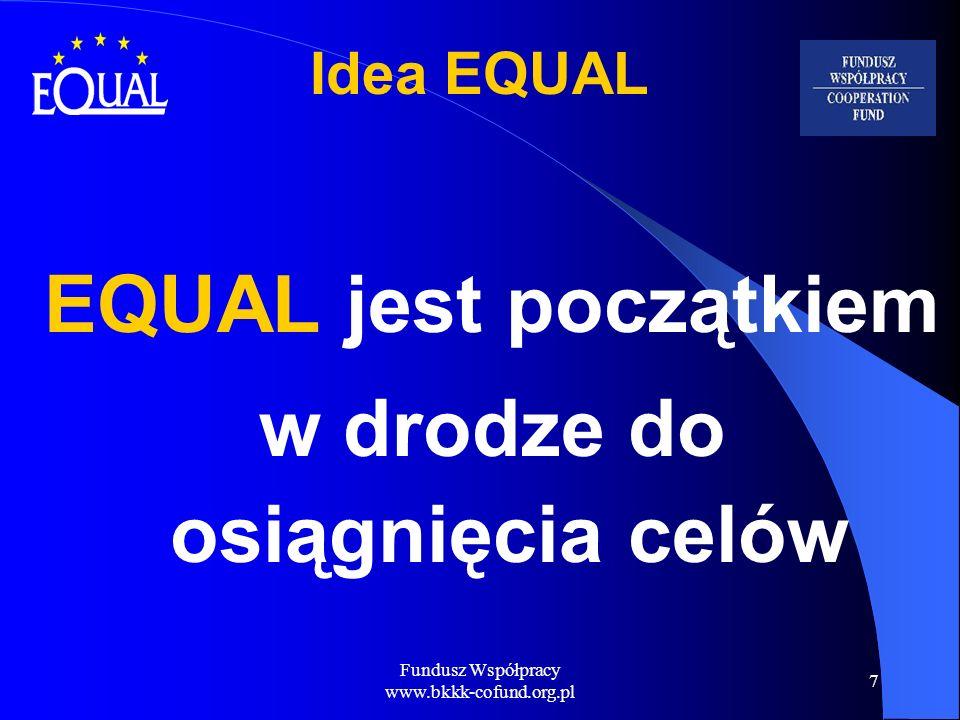 Fundusz Współpracy www.bkkk-cofund.org.pl 8 W jaki sposób realizowany jest EQUAL.