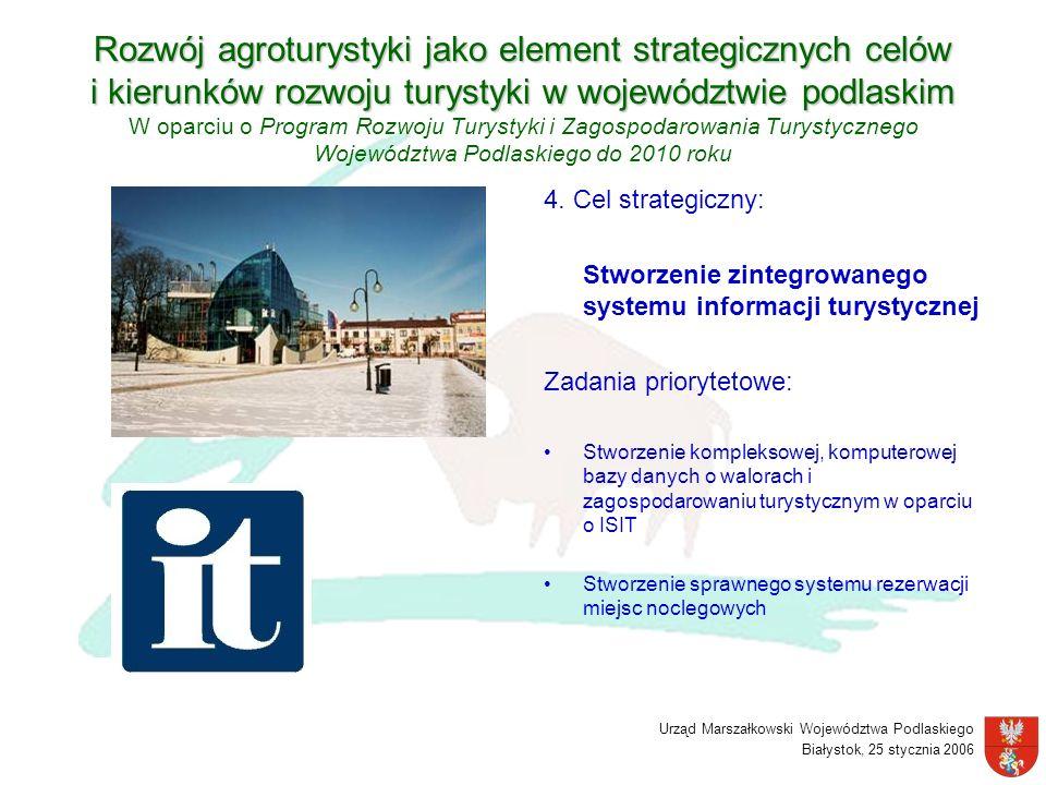 Urząd Marszałkowski Województwa Podlaskiego Białystok, 25 stycznia 2006 Rozwój agroturystyki jako element strategicznych celów i kierunków rozwoju tur