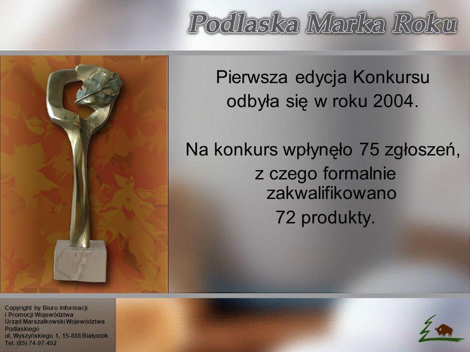 Pierwsza edycja Konkursu odbyła się w roku 2004.