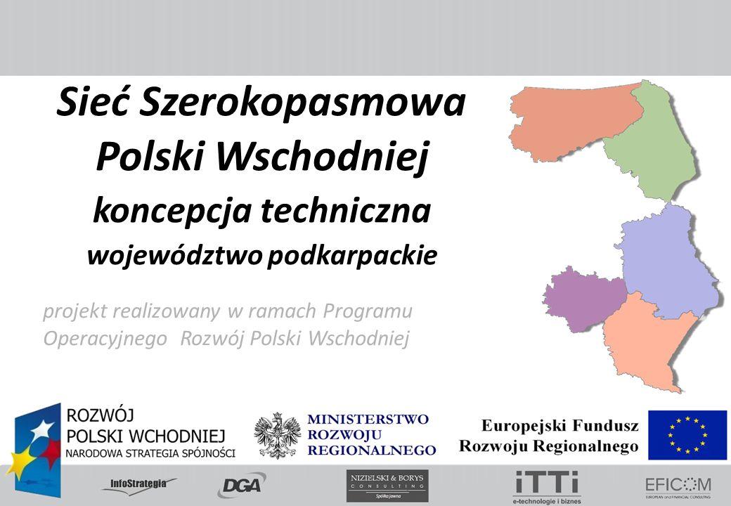 projekt realizowany w ramach Programu Operacyjnego Rozwój Polski Wschodniej Sieć Szerokopasmowa Polski Wschodniej koncepcja techniczna województwo pod