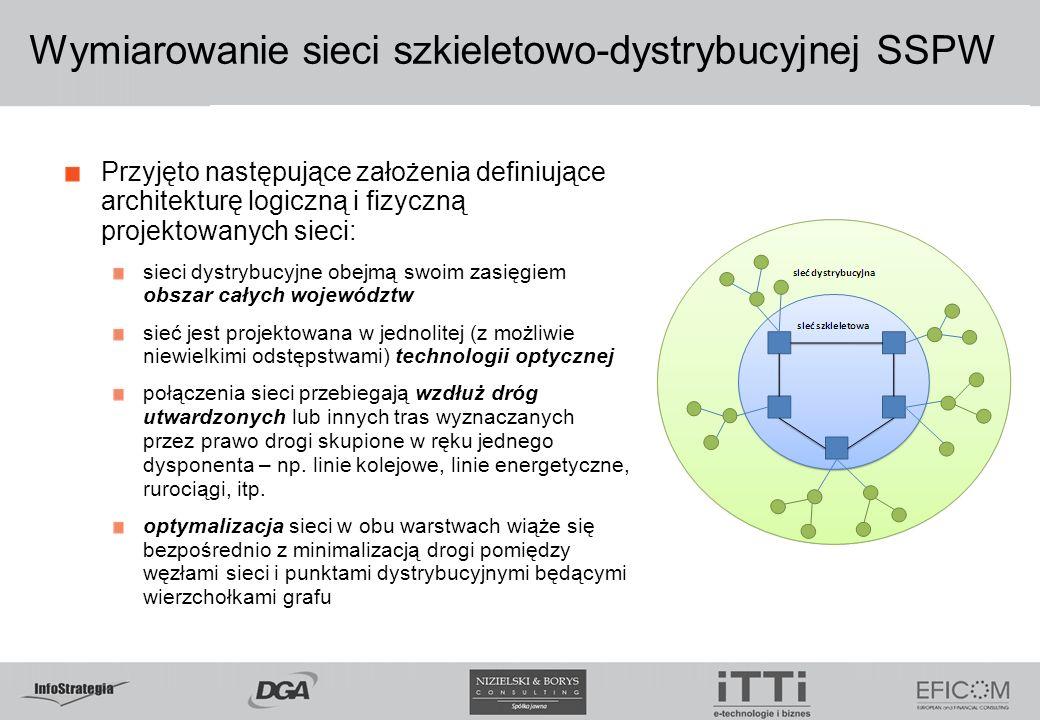 Przyjęto następujące założenia definiujące architekturę logiczną i fizyczną projektowanych sieci: sieci dystrybucyjne obejmą swoim zasięgiem obszar ca
