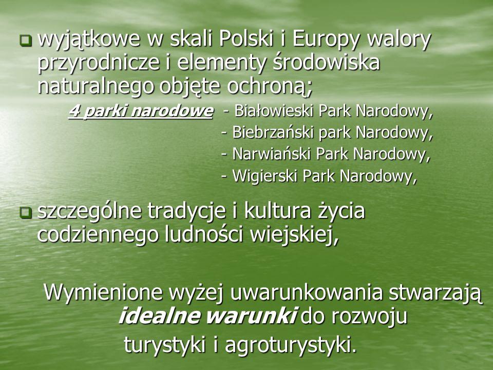 wyjątkowe w skali Polski i Europy walory przyrodnicze i elementy środowiska naturalnego objęte ochroną; wyjątkowe w skali Polski i Europy walory przyr