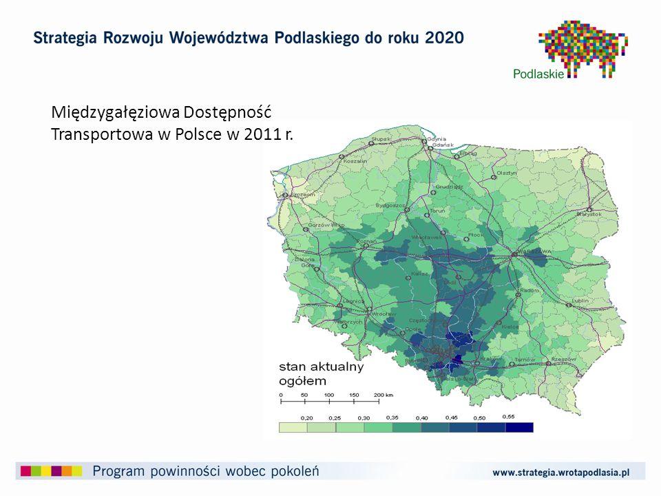 Międzygałęziowa Dostępność Transportowa w Polsce w 2011 r.