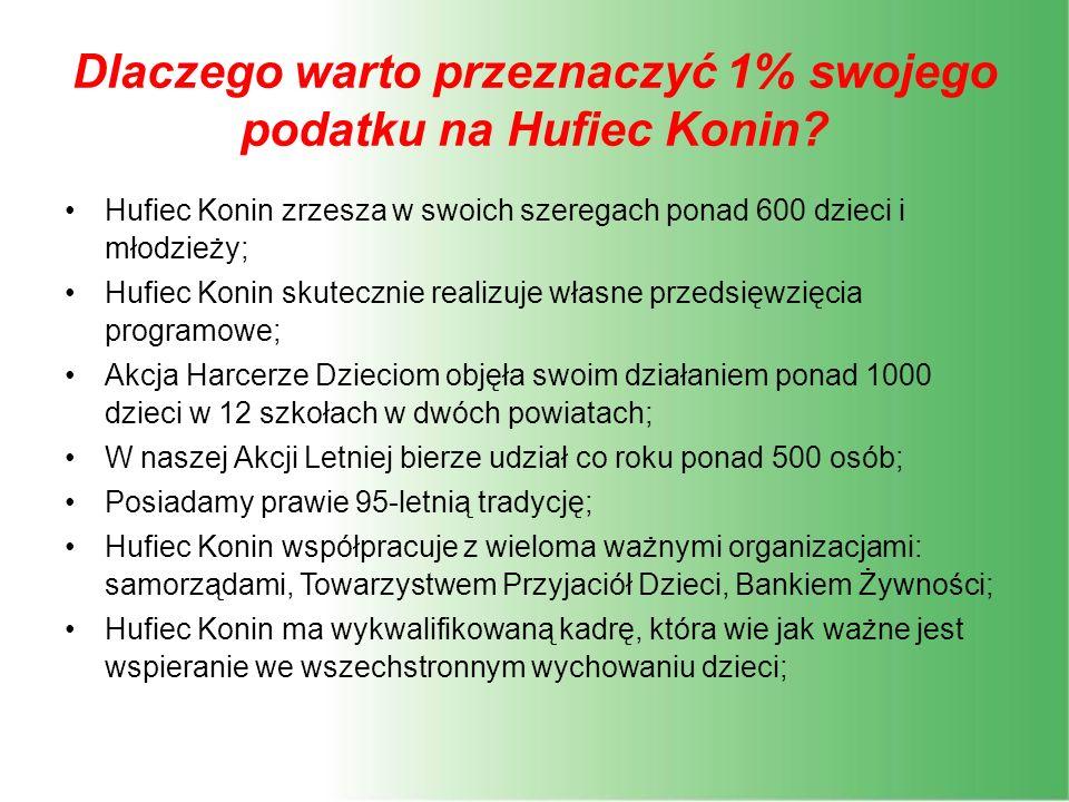 Dlaczego warto przeznaczyć 1% swojego podatku na Hufiec Konin.