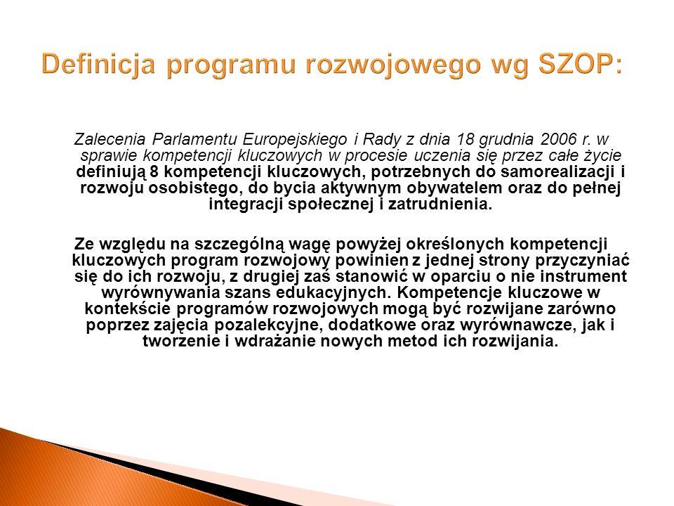Zalecenia Parlamentu Europejskiego i Rady z dnia 18 grudnia 2006 r.