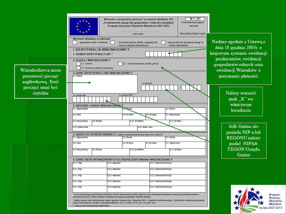 Nadany zgodnie z Ustawą z dnia 18 grudnia 2003r. o krajowym systemie ewidencji producentów, ewidencji gospodarstw rolnych oraz ewidencji Wniosków o pr