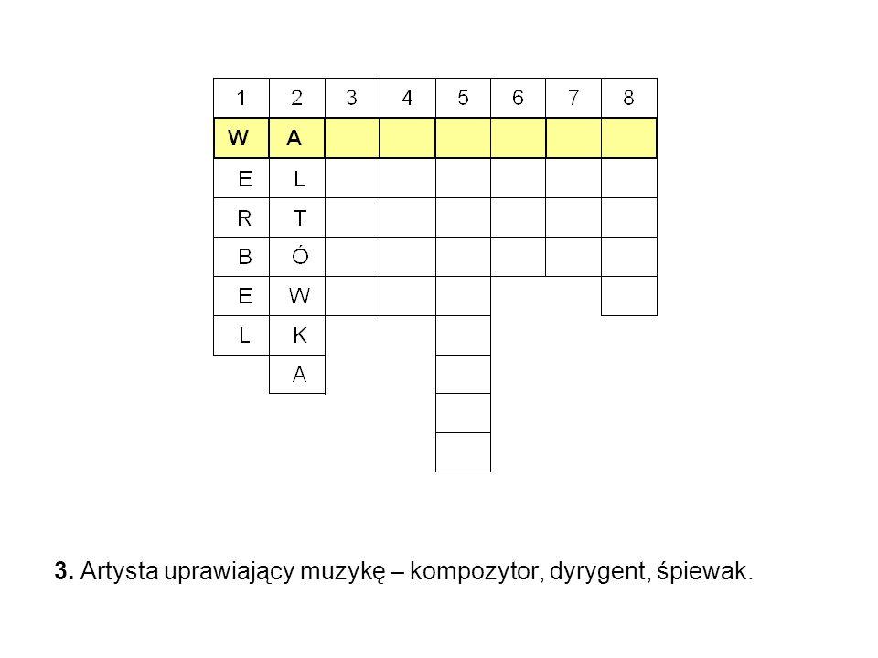 3. Artysta uprawiający muzykę – kompozytor, dyrygent, śpiewak.