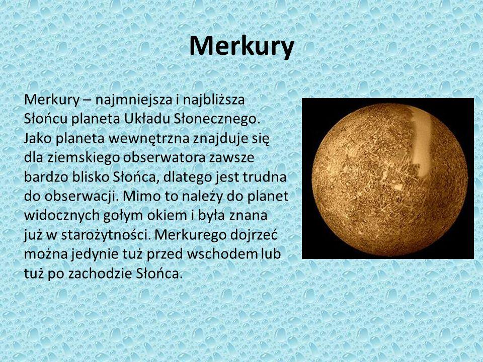 Wenus Wenus – druga według oddalenia od Słońca planeta Układu Słonecznego.