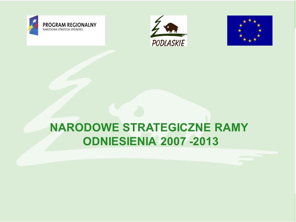 NARODOWE STRATEGICZNE RAMY ODNIESIENIA 2007 -2013