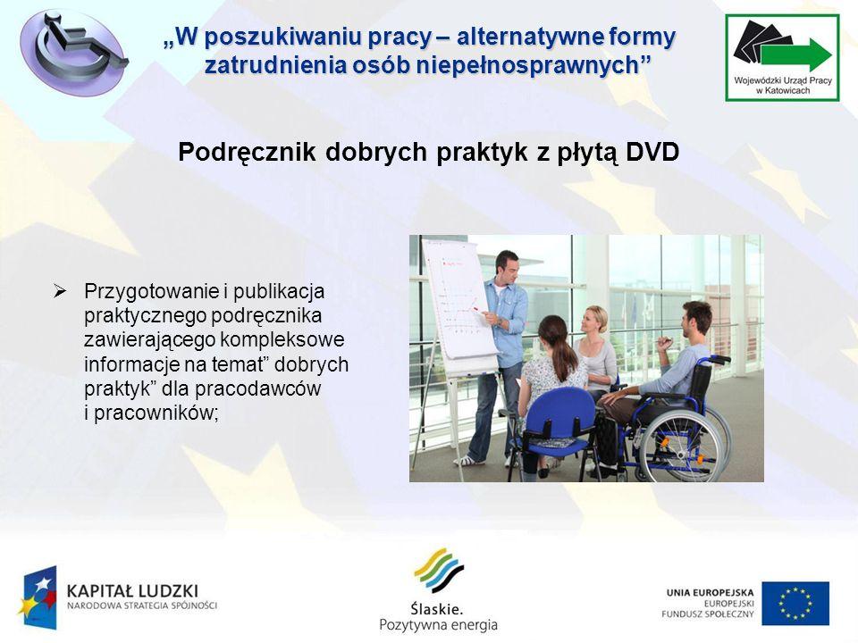 Podręcznik dobrych praktyk z płytą DVD Przygotowanie i publikacja praktycznego podręcznika zawierającego kompleksowe informacje na temat dobrych praktyk dla pracodawców i pracowników;