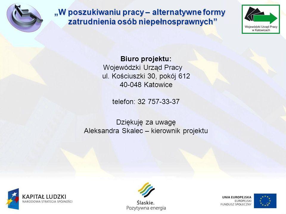 Biuro projektu: Wojewódzki Urząd Pracy ul.