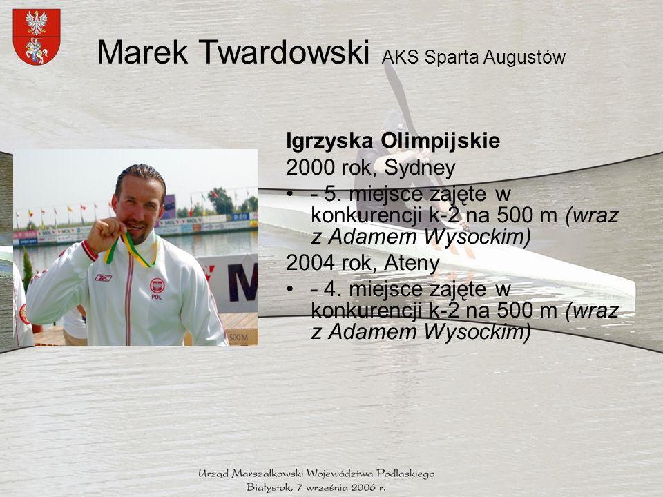Marek Twardowski AKS Sparta Augustów Igrzyska Olimpijskie 2000 rok, Sydney - 5.