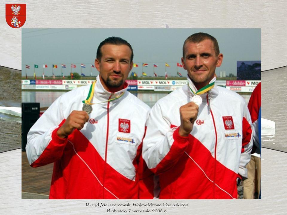 Paweł Skowroński UKS Dojlidy Białystok Mistrzostwa Świata seniorów 2006 rok, Szeged - srebrny medal zdobyty w konkurencji c-4 na 500 metrów - 4.