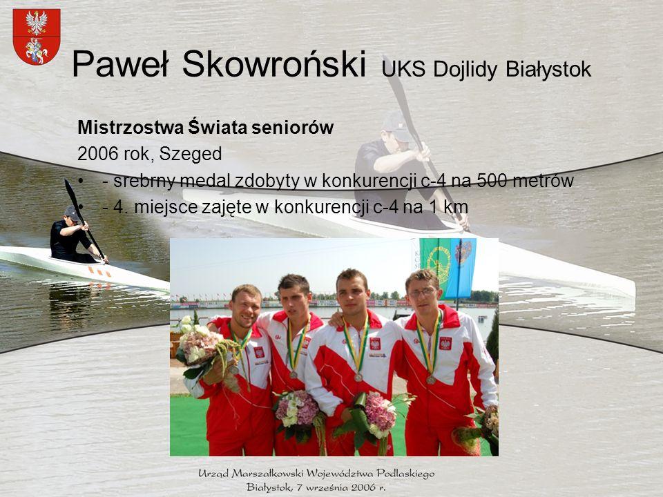 Edyta Dzieniszewska AKS Sparta Augustów Mistrzostwa Świata seniorek 2006 rok Szeged - 4.