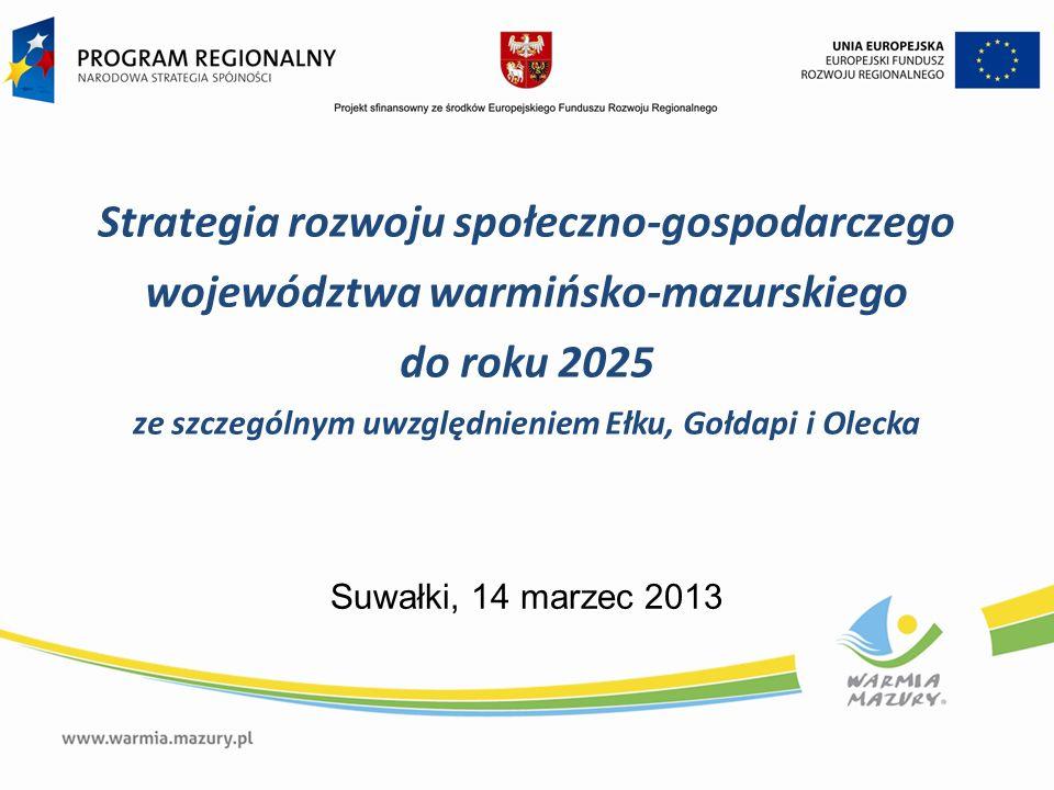 Strategia rozwoju społeczno-gospodarczego województwa warmińsko-mazurskiego do roku 2025 ze szczególnym uwzględnieniem Ełku, Gołdapi i Olecka Suwałki,