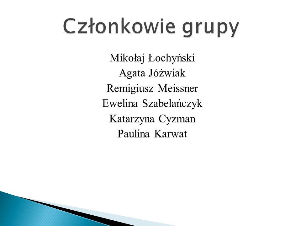 Mikołaj Łochyński Agata Jóźwiak Remigiusz Meissner Ewelina Szabelańczyk Katarzyna Cyzman Paulina Karwat