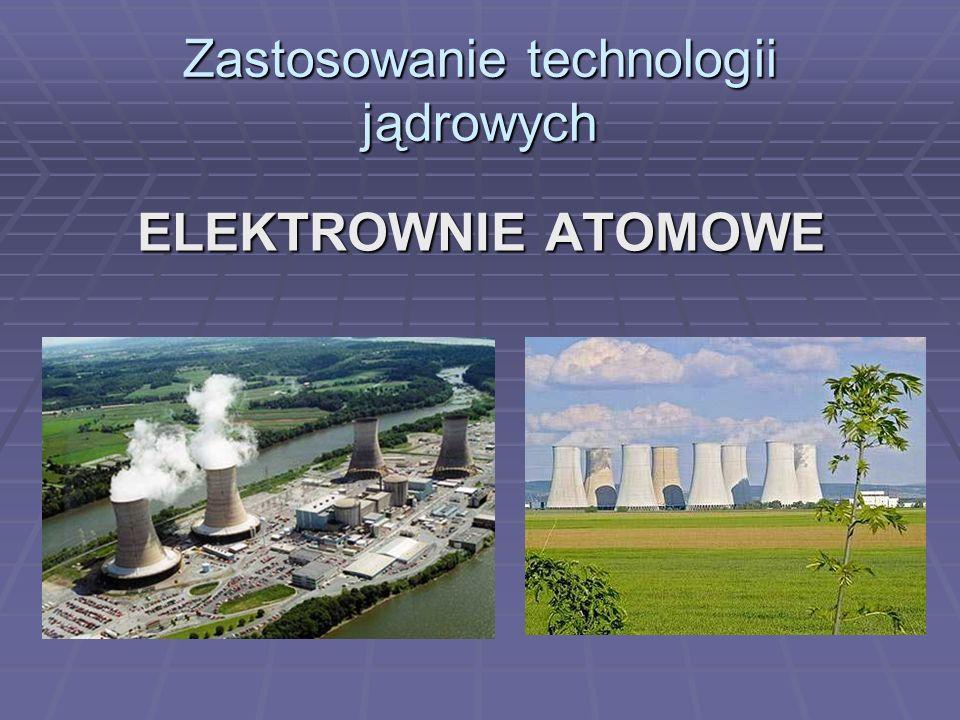 Zastosowanie technologii jądrowych ELEKTROWNIE ATOMOWE