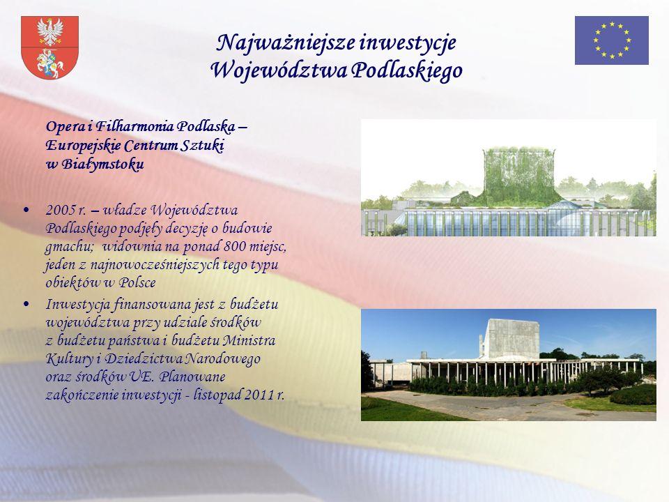 Opera i Filharmonia Podlaska – Europejskie Centrum Sztuki w Białymstoku 2005 r. – władze Województwa Podlaskiego podjęły decyzję o budowie gmachu; wid