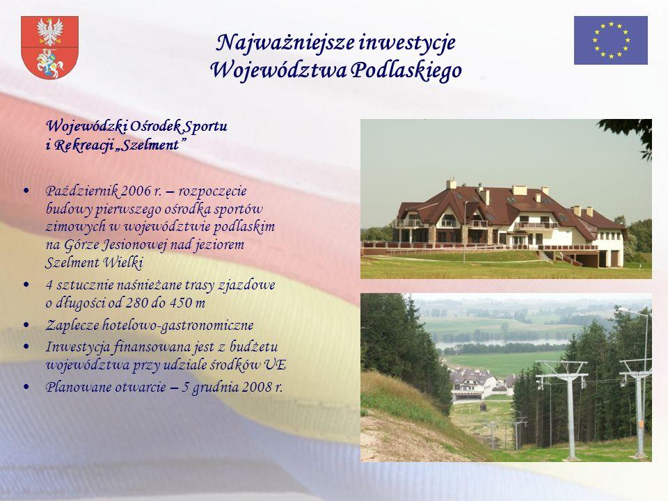 Wojewódzki Ośrodek Sportu i Rekreacji Szelment Październik 2006 r.