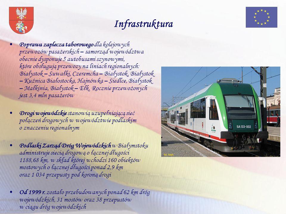 Infrastruktura Poprawa zaplecza taborowego dla kolejowych przewozów pasażerskich – samorząd województwa obecnie dysponuje 5 autobusami szynowymi, któr