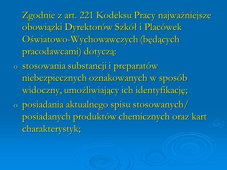 Materiały źródłowe: 1.Ustawa o substancjach i preparatach chemicznych (Dz.U.09.152.1222 j.t.) 2.