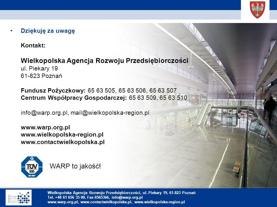 1. Einleitung Dziękuję za uwagę Kontakt: Wielkopolska Agencja Rozwoju Przedsiębiorczości ul.
