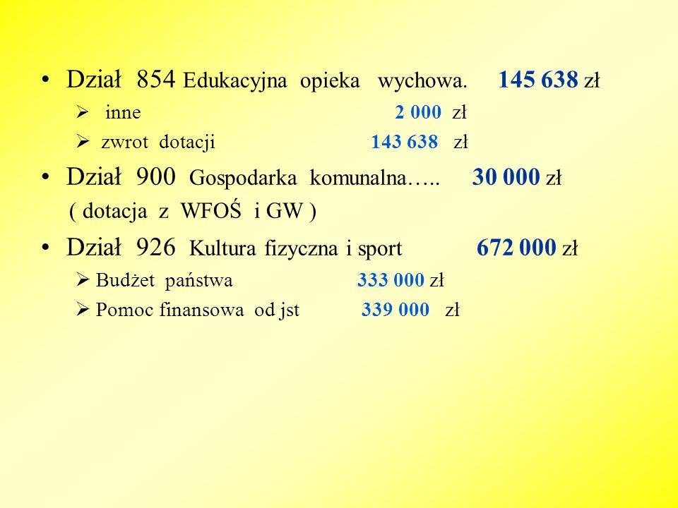 WYKONANIE PLANU DOCHODÓW 115 666 675,61 ZŁ 104,32 % PLANU