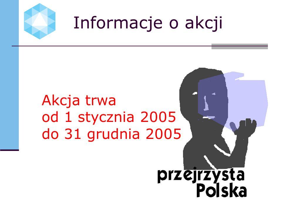 Informacje o akcji Akcja trwa od 1 stycznia 2005 do 31 grudnia 2005