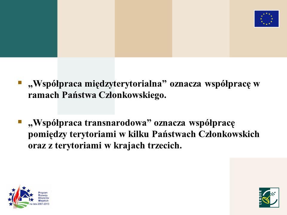 Współpraca międzyterytorialna oznacza współpracę w ramach Państwa Członkowskiego.