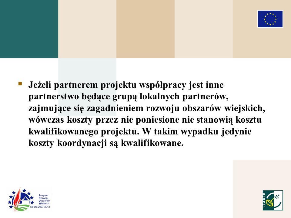 Kryteria wyboru projektów współpracy: 8.