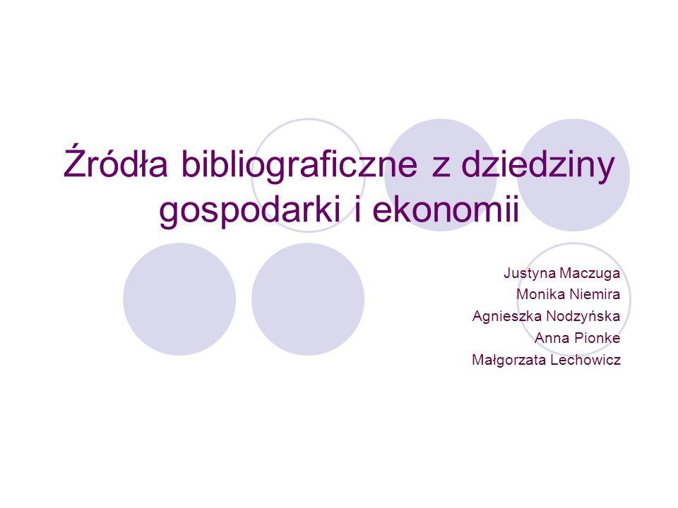 Przegląd Bibliograficzny Piśmiennictwa Ekonomicznego Przegląd Bibliograficzny Piśmiennictwa Ekonomicznego powstał w 1946 roku i jest pierwszą bieżącą bibliografią piśmiennictwa z dziedziny ekonomii w Polsce.