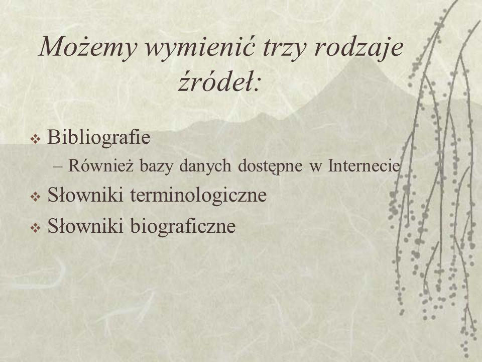 Zmiany: Dodatkowo obejmuje artykuły z czasopism w języku obcym lub tłumaczone na język polski Brak indeksu nazw łacińskich Zmiana w działach