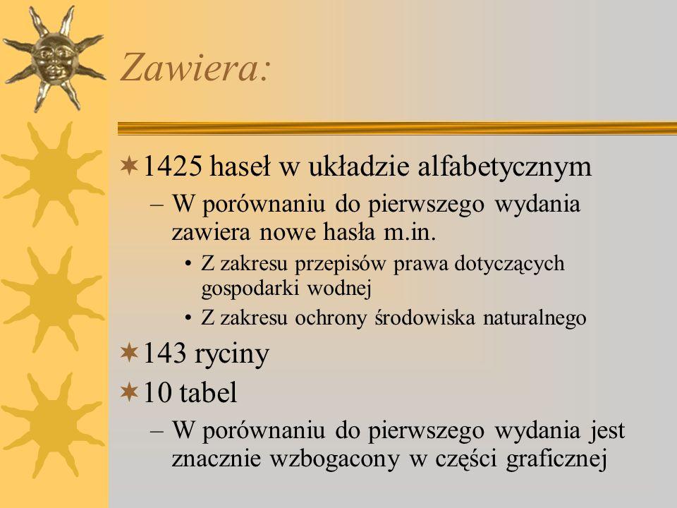 Słownik hydrogeologiczny Wydawca: –Państwowy Instytut Geologiczny Warszawa 2002 (wyd. II rozszerzone) Redakcja naukowa: –Jan Dowgiałło –Antoni Kleczko