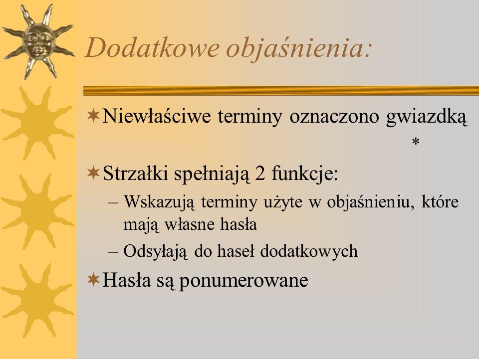 Spis treści zawiera: Wybrane pozycje literackie Spis rycin Wykaz oznaczeń, wymiarów i jednostek Indeksy alfabetyczne haseł w językach: –p–polskim –a–angielskim –f–francuskim –n–niemieckim –r–rosyjskim