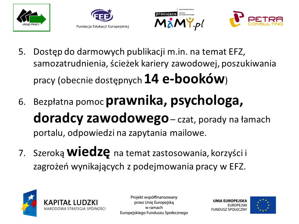 5.Dostęp do darmowych publikacji m.in.